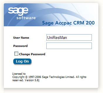 UniResMan CRM Interface